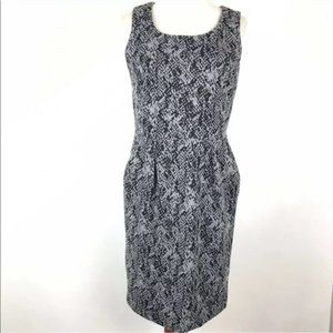Calvin Klein Sheath Dress Size Medium Printed
